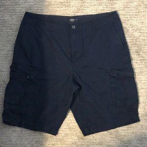 Navy blue cargo shorts. Size 36